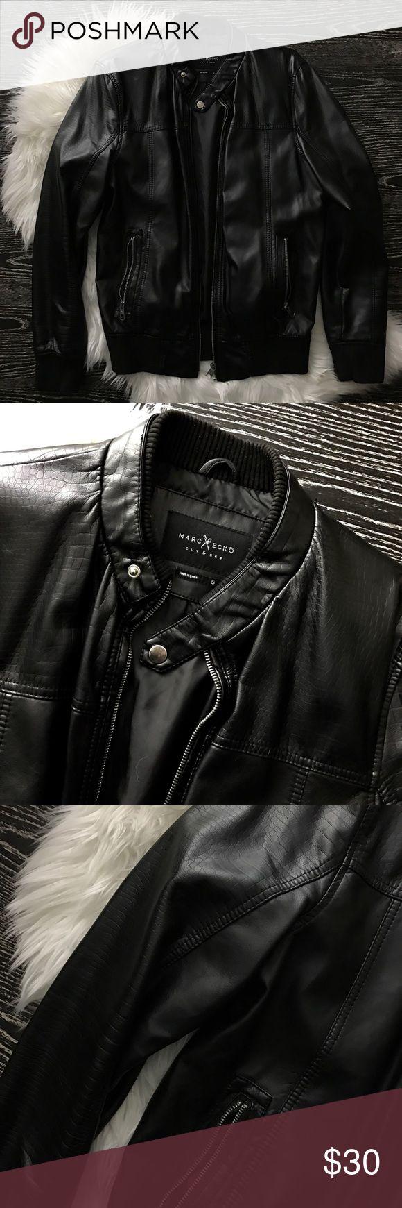 Marc Ecko Black Faux Leather Jacket Small Worn twice / like new / marc ecko / black faux leather jacket / small Marc Ecko Jackets & Coats Bomber & Varsity