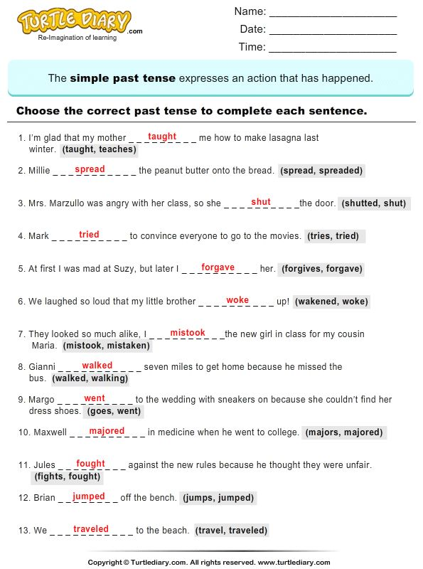Lesson Plan For Tenses For Grade 4 English Google Search Edu