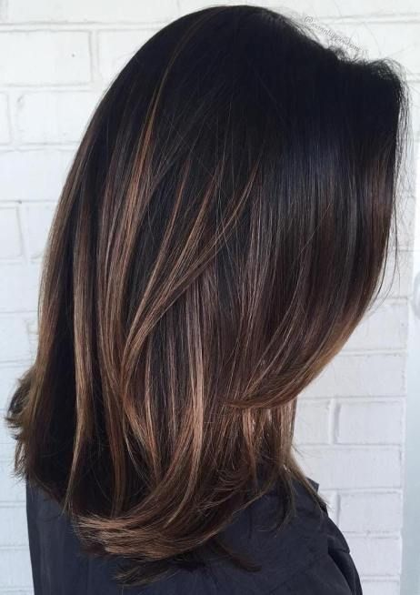 Subtle highlights dark hair