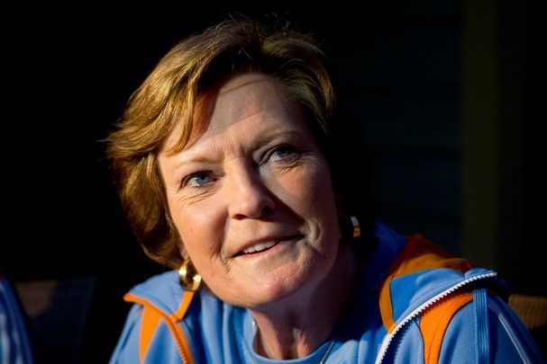 """Pat Summitt stepped down as head coach of the Tennessee women's basketball program on Wednesday, becoming coach emeritus. Summitt, who joined the program in 1974 said, """"I feel really good about my decision.""""   http://www.govolsxtra.com/news/2012/apr/18/court-adjourned-pat-summitt-steps-down-after/"""