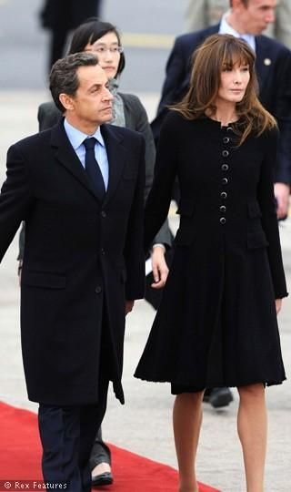Nicolas Sarkozy and Carla Bruni  Feb. 27, 2011
