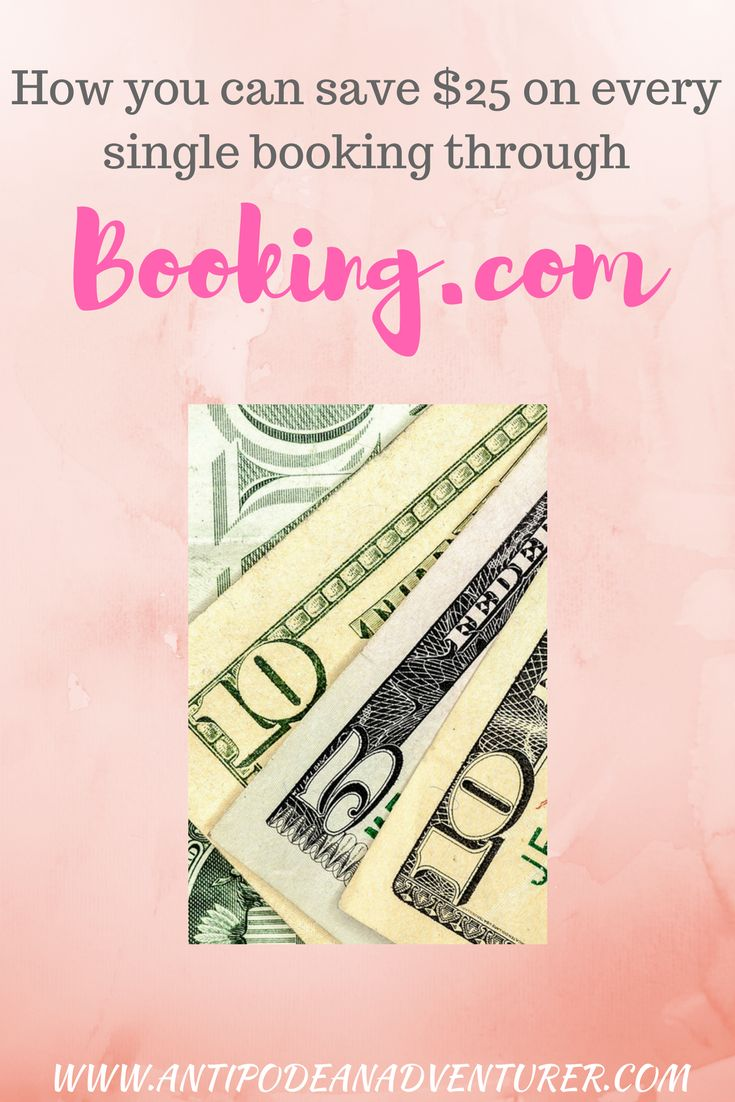 A $25 gift for you if you book through Booking.com using the link from my website :)