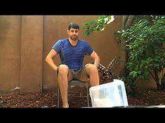 John Krasinksi takes the Ice Bucket Challenge.