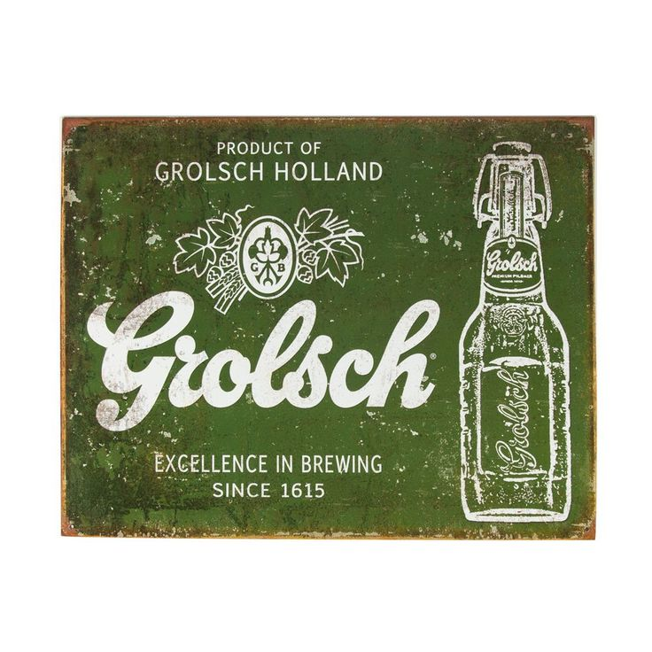Grolsch Beer Excellence In Brewing Metal Bar Sign
