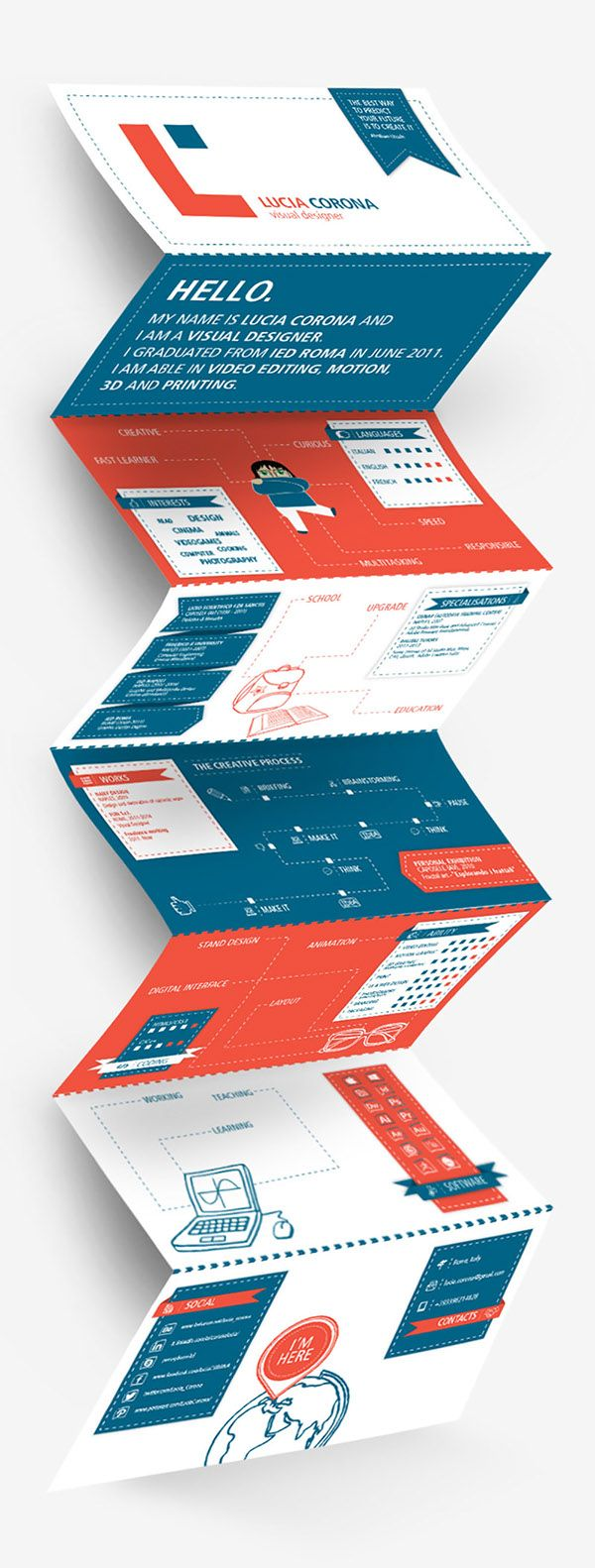 Personal Identity | Resume by Lucia Corona, via Behance