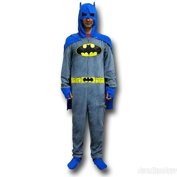 Batman Caped Footie Pajamas For Adults