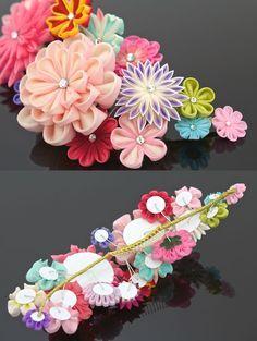 Ручка созданный гребень церемония кимоно розовый цветок заколка для волос аксессуары бесплатная доставка по почте | кимоно музей SoYoshisono