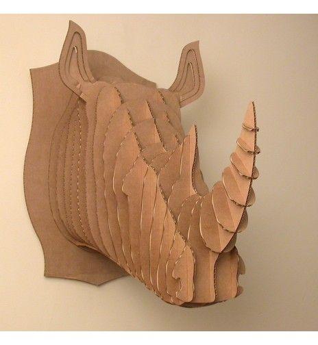 Tête de rhino grand modèle