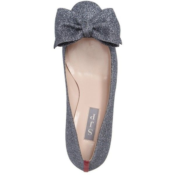 Women's Sjp By Sarah Jessica Parker Euphoric Bow Pump (€370) ❤ liked on Polyvore featuring shoes, pumps, sjp shoes, bow pumps, sparkly pumps, bow shoes and grey pumps