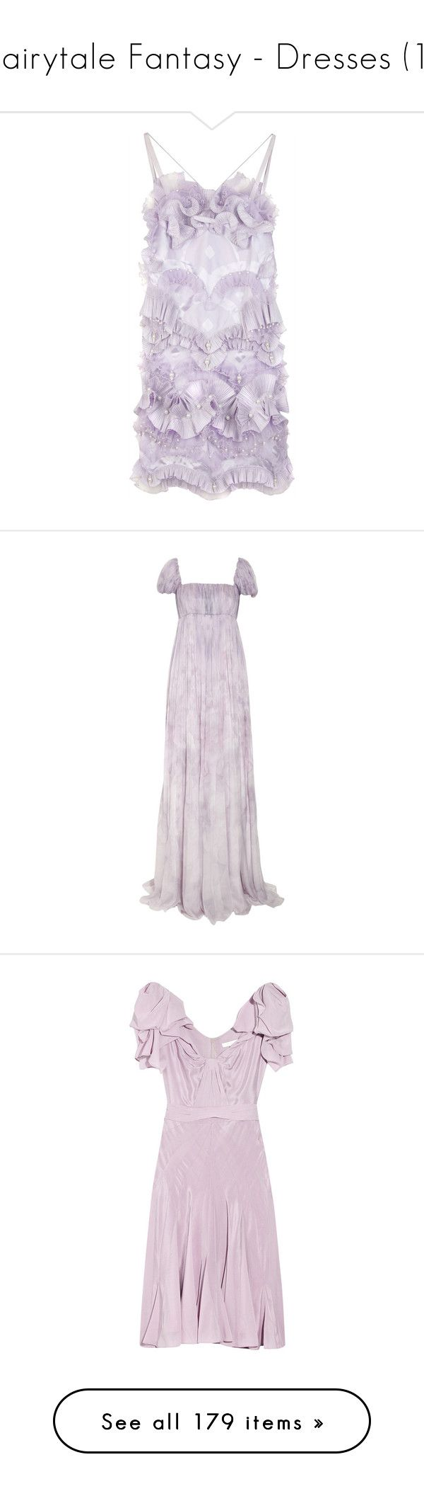 """""""Fairytale Fantasy - Dresses (1)"""" by metalheavy ❤ liked on Polyvore featuring dresses, vestidos, purple, haljine, women, summer cocktail dresses, spaghetti strap summer dress, pleated dress, lace up dress and scalloped dress"""
