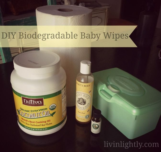 DIY Biodegradable Baby Wipes