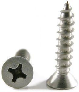 #14 Phillips Flat Head Sheet Metal Screws 18-8 Stainless Steel