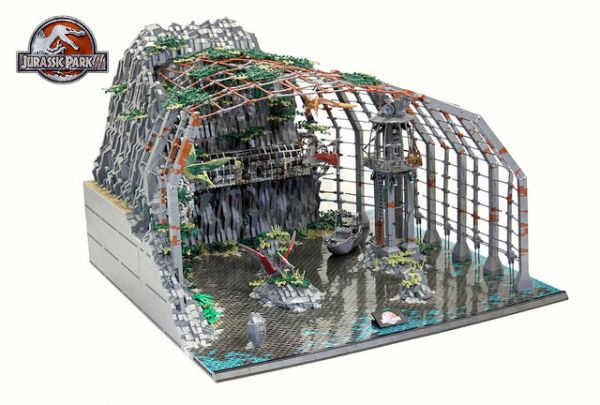 This Jurassic Park Lego Diorama Combines All Four Movies Into One Massive Display. By Markus Aspacher and Paul Trach. #LEGO