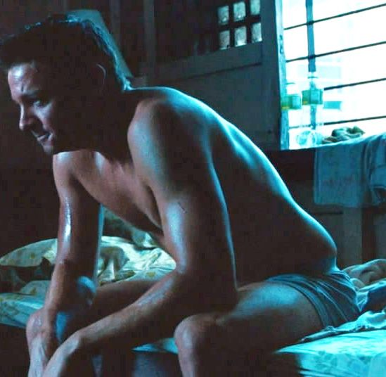 jeremy renner -- put your clothes back on! Well, take your time, but at some point...I mean...*whoa*