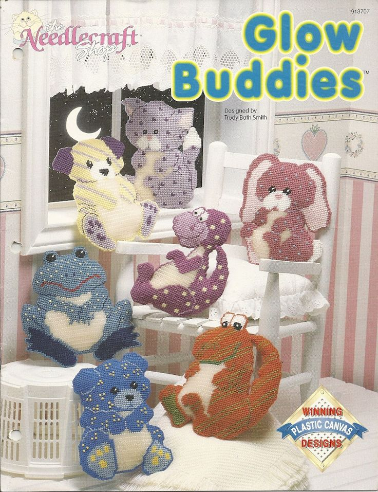 Glow Buddies Plastic Canvas Pattern Leaflet 7 Stuffed
