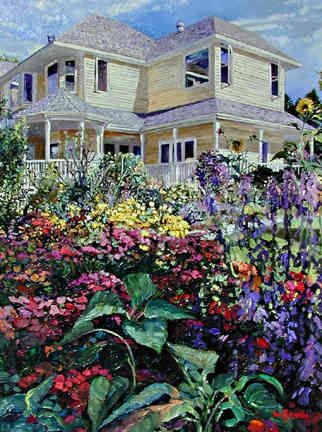 'Kelowna Flower Garden' by John H. Burrow -- Curated by Misfeldt Accounting | #105 - 1626 Richter Street, Kelowna, BC V1Y 2M3 Canada | (250) 860-5882