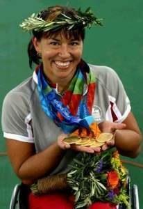 22 août 2004 Médaille d'or pour Chantal Petitclerc aux Jeux Olympiques d'Athènes         St-Marc-des-Carrieres