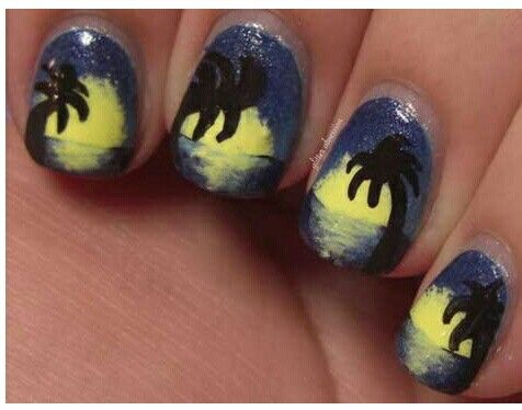Zonsondergang nagels