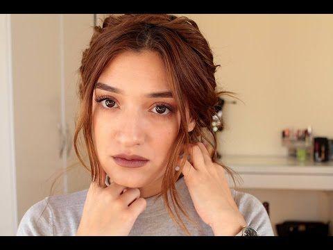 Bohem Kahve Makyaj & Kolay Saç Modeli - YouTube