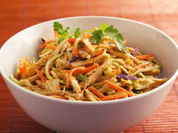 Shredded Thai Chicken SaladThai Chicken Salad, Chicken Salads, Food, Soy Sauce, Eating, Rotisserie Chicken, Chicken Salad Recipe, Savory Recipe, Shredded Thai