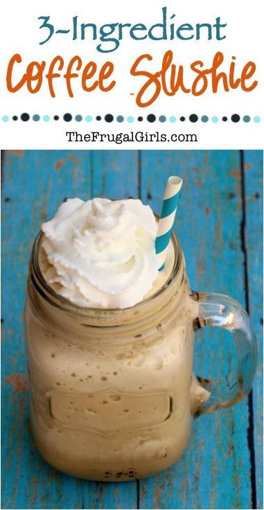 Easy Coffee Slush Recipe - Just 3-Ingredients and SO delicious... the perfect drink to cool you down on a hot day! ~ from TheFrugalGirls.com