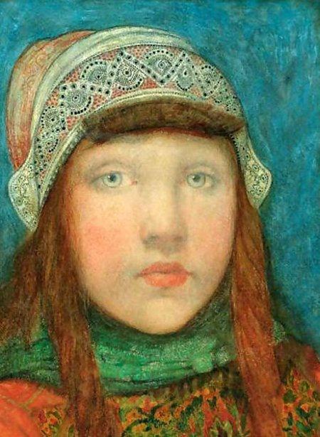 Nico Wilhelm Jungmann (1872 – 1935, Dutch), Portrait of a Young Girl