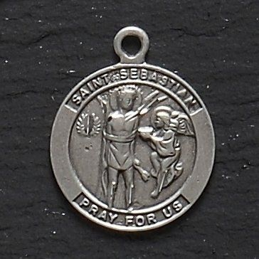 2 St Sebastian Pendants by Gordon Companies, Inc. $100.50. Picture may wrongfully represent. Please read title and description thoroughly.. This product may be prohibited inbound shipment to your destination.. Please refer to SKU# ATR25787109 when you inquire.. Shipping Weight: 1.00 lbs. Brand Name: Gordon Companies, Inc Mfg#: 30754177. 2 St. Sebastian Pendants/1''H/you get 2 pendants