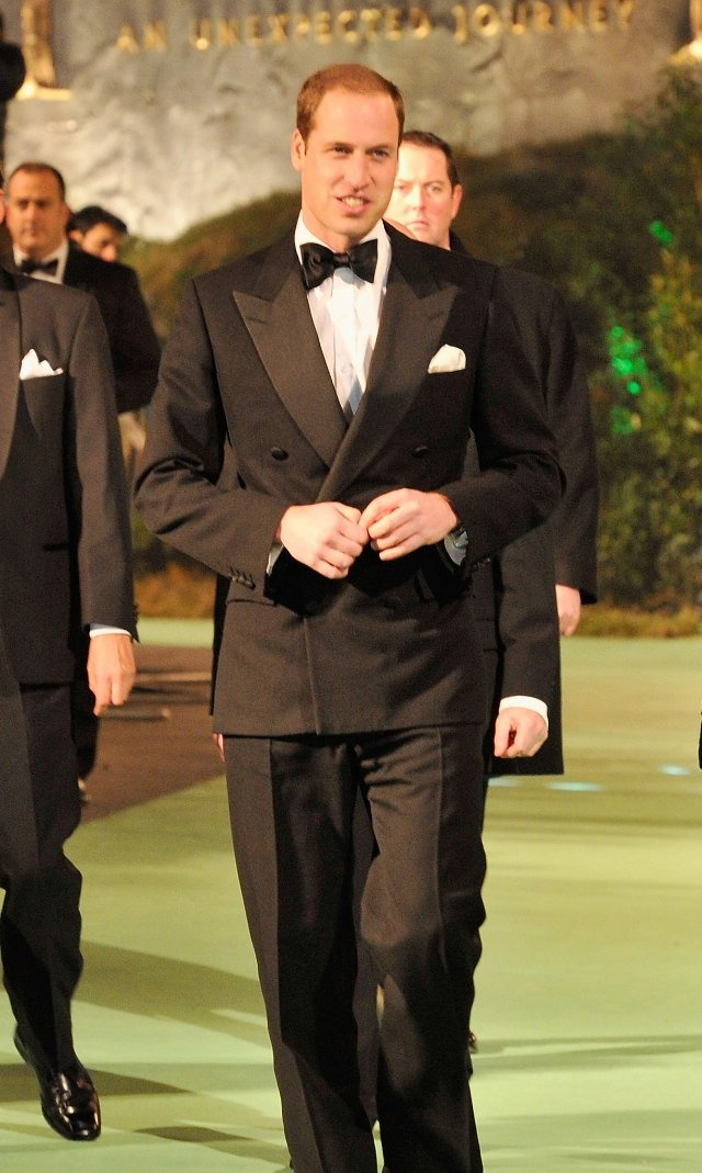 Prince William Windsor at the London Royal Film Performance event of The Hobbit: An Unexpected Journey