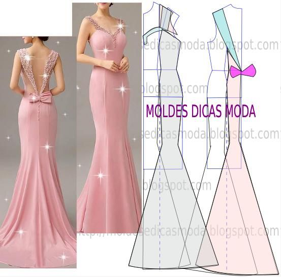 Passo a passo corte e costura do molde de vestido rosa. Belo e próprio para ocasiões especiais este modelo prima pela elegância e simplicidade.