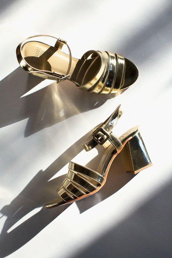 Maryam Nassir Zadeh - Gold Metallic Palma Sandal