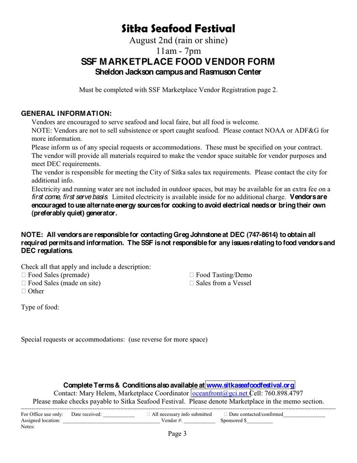 There is still time to sign up to be a a vendor at this yearu0027s SSF - vendor registration form