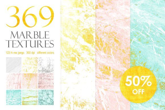 369 Marble Textures Bundle by Tory Design on @creativemarket