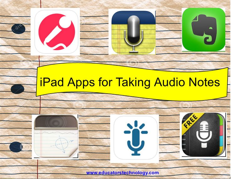 5 Excellent iPad Apps Students Can Use for Taking Audio Notes ~ Educational Technology and Mobile Learning