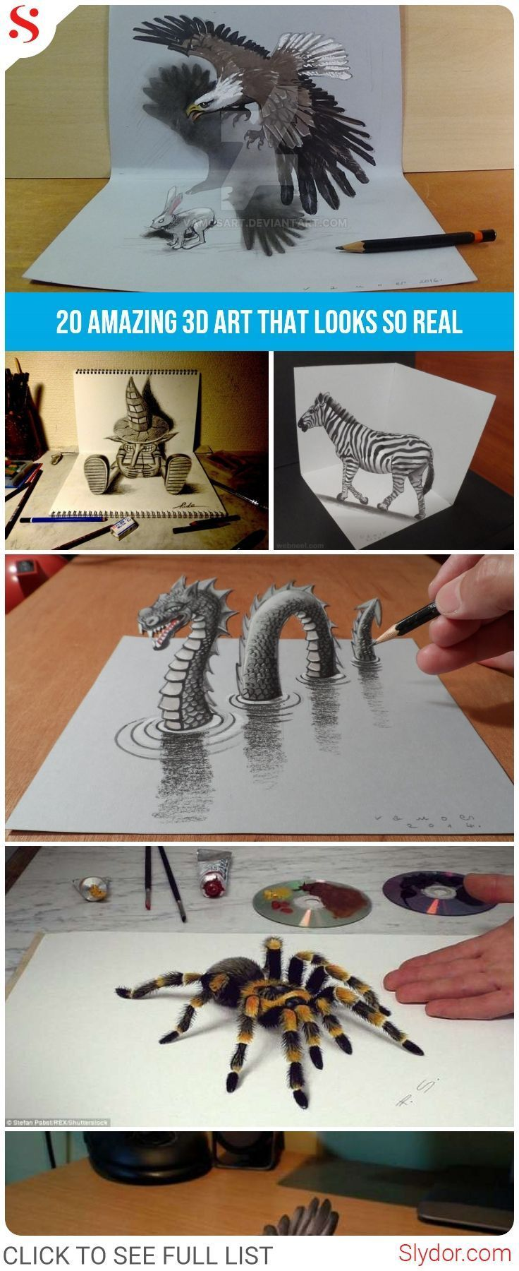 Absolutely amazing 3d art that looks so real art artist 3d 3dart epic paperart slydor