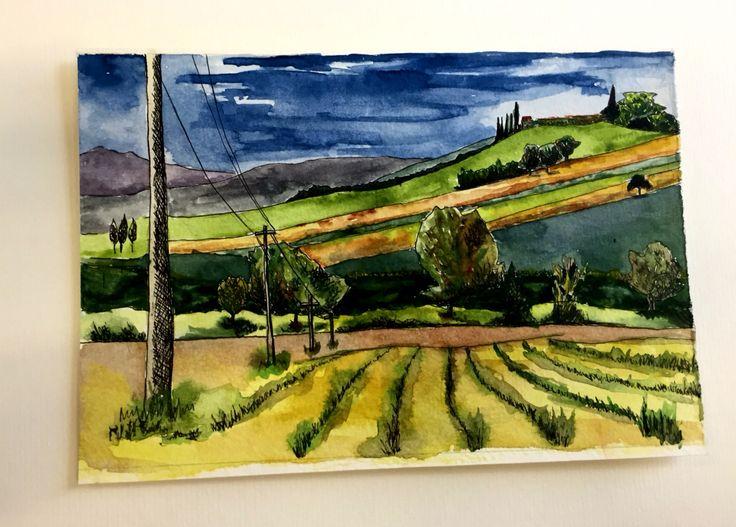 Tuscany #watercolour