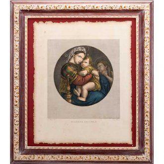 Virgen de la silla estampa florentina   venta online en HOLYART