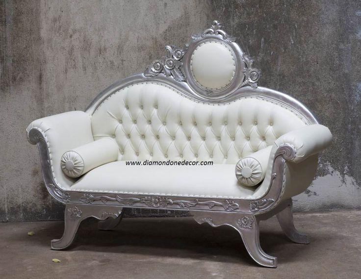 Baroque French Reproduction Rococo Victorian Wedding Louis XVI Sofa