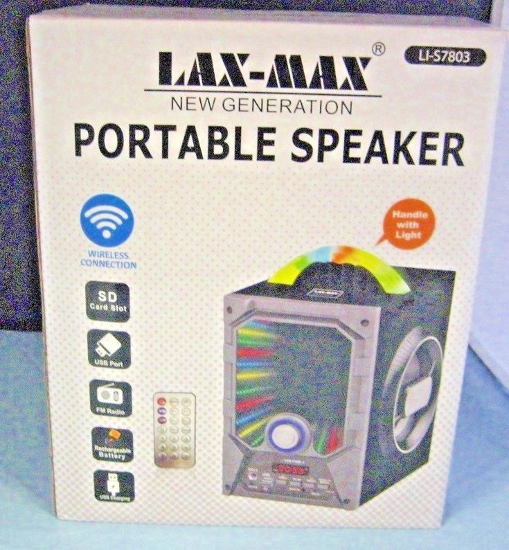Lax Max Portable Speaker LI-S7803 with Box Grey | Consumer Electronics, Portable Audio & Headphones, iPod, Audio Player Accessories | eBay!