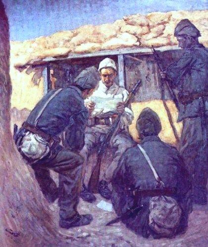 siperde-mektup-okuyan-askerler