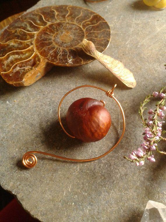 Nautilus Pendant  OOAK Bespoke Botanicals  by KinsaleConkers on Etsy  €11.80 ~ £9.40 ~ $14.60
