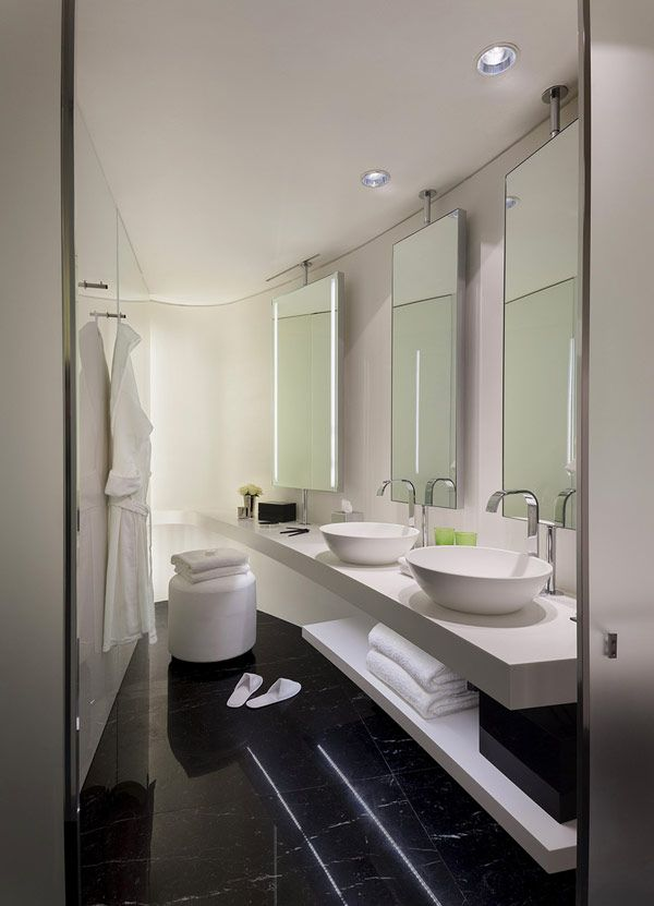 hotel design idea me london hotels beauty black and white powder room contemporary me hotel london - White Hotel Ideas