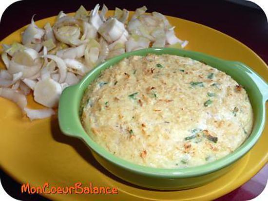 La meilleure recette de Flan au crabe et à la ciboulette (Weight Watchers ProPoints)! L'essayer, c'est l'adopter! 4.6/5 (7 votes), 9 Commentaires. Ingrédients: 120 g de chair de crabe en boite 3PP, 1 oeufs moyen 2PP, 3 cs de crème à 15 % 1,5PP, sel et poivre 0PP, 15 g de gruyère râpé 1,5PP, 1 cs de ciboulette surgelée 0PP