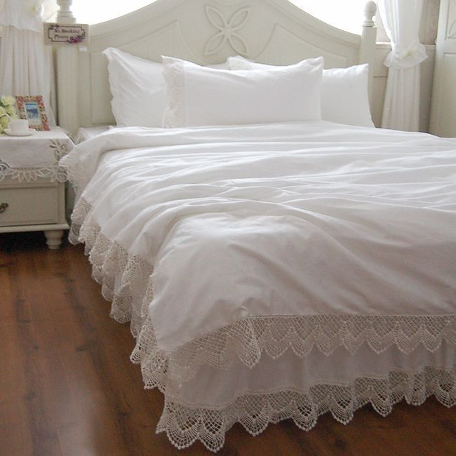 Best 25 White Lace Bedding Ideas On Pinterest Lace