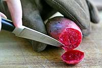 How do you cut and prepare prickly pear cactus?  Carefully.  Here's a step-by-step guide with photos and recipe suggestions. ~ SimplyRecipes.com