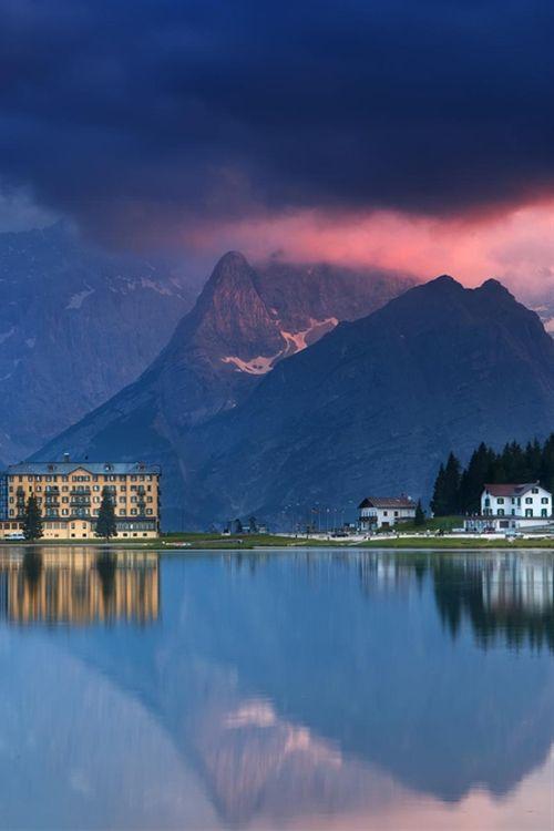 Evening on Misurina lake -province of Belluno , Veneto Italy (by Dmitriy Vorobey)