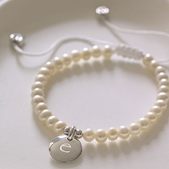 Personalised Girls Pearl Bridesmaid Bracelet