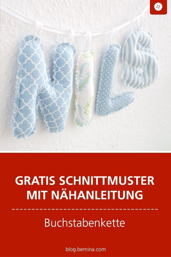 Baby-Buchstabenkette selbst nähen (kostenlose Nähanleitung) – Catja Kinder