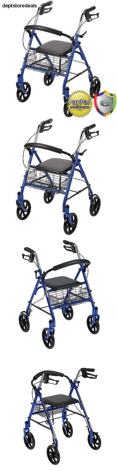 Walkers and Canes: Adult Walker Roller Mobile Stability Medical Rollator Back Support Seat Foldable -> BUY IT NOW ONLY: $80.5 on eBay!