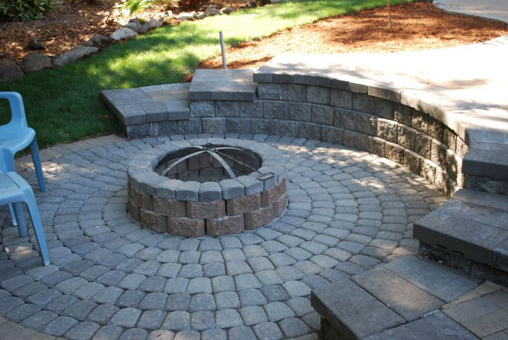 42 best images about fire pits on pinterest backyards for Outdoor fire pit construction