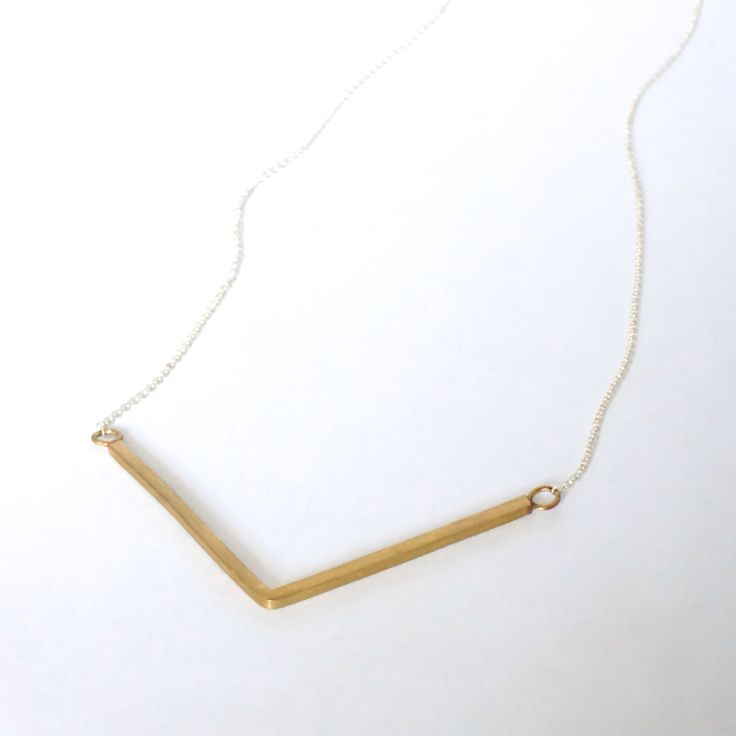 Gold Tone V Necklace Sterling Silver Triangle Necklace chevron necklace Geometric Necklace elegant necklace minimalist necklace 0156 by VirginiaWynne on Etsy https://www.etsy.com/listing/244912588/gold-tone-v-necklace-sterling-silver